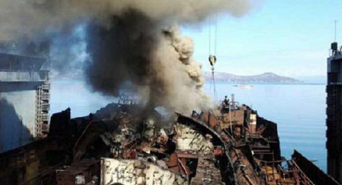 Kapal Selam Nuklir Rusia Terbakar