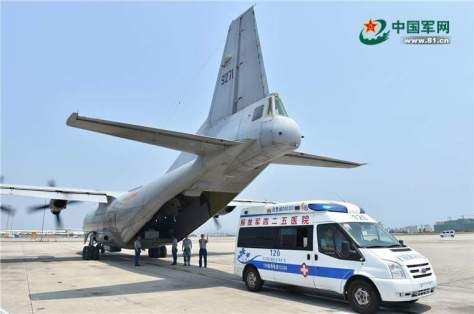Pendaratan pesawat militer china di lcs