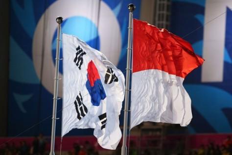Bendera Korea sekatan - Indonesia