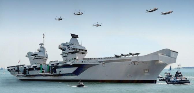 HMS Queen Elizabeth Jalani Pelayaran Perdana