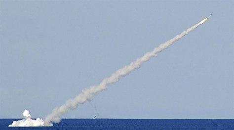 Rudal Kalibr diluncurkan dari kapal selam