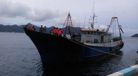 Kapal Nelayan China bernomor lambung 19038