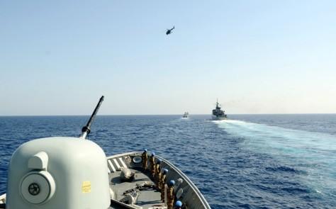 KRI Bung Tomo Pimpim Latgab Maritim UNIFIL