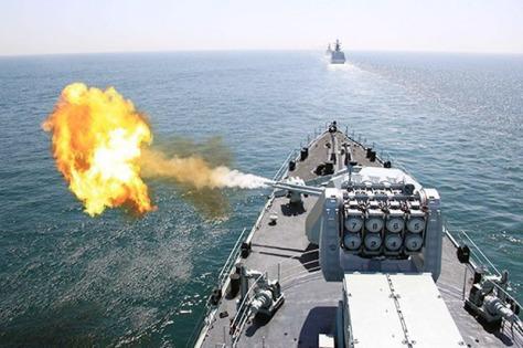 Kapal Perang China di Latihan Militer LCS