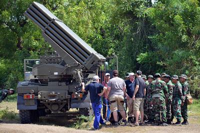 Uji fungsi MLRS RM 70 Vampir beserta kendaraan Aligator dan Tatrapan (all photos Korps Marinir)
