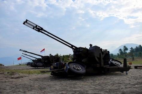 Artileri Pertahanan Udara type Twin 35mm Towed AA Gun 1