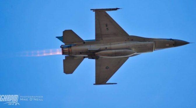 Test Flight F-16 TNI AU setelah Selesai Jalani Perawatan