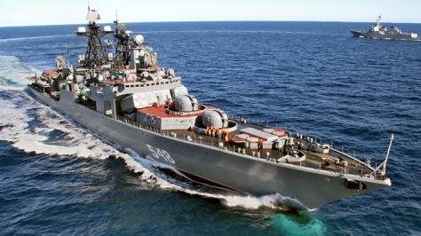 Kapal Perang Admiral Panteleyev Rusia anti-submarine warfare ship of the Pacific Fleet (RIA Novosti Vitaliy Ankov)