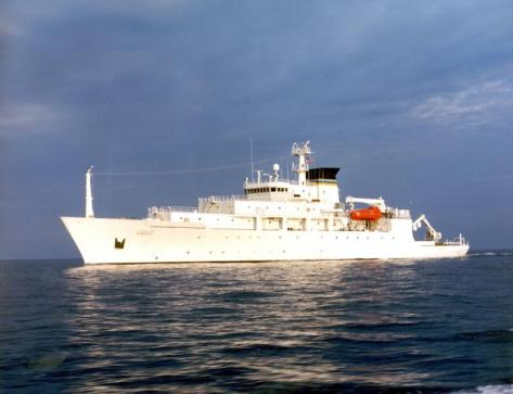 010406-N-0000X-001USNS Bowditch (T-AGS 62) -- Navy file photo of the T-AGS 60 Class Oceanographic Survey Ship, USNS Bowditch