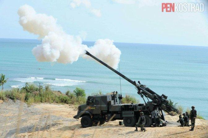 Kemhan Kembali Datangkan Meriam Caesar 155 MM Untuk Perkuat Alutsista TNI AD