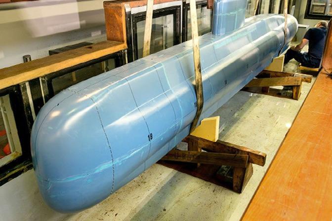Pengujian Hidrodinamika 'DSME 1400 AIP Class Submarine' Baru