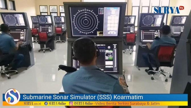 Melihat Dari Dekat Prajurit TNI AL Berlatih Submarine Sonar Simulator (video)