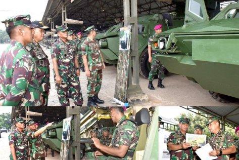 Dankormar Lakukan Pengecekan Ranpur BTR-4