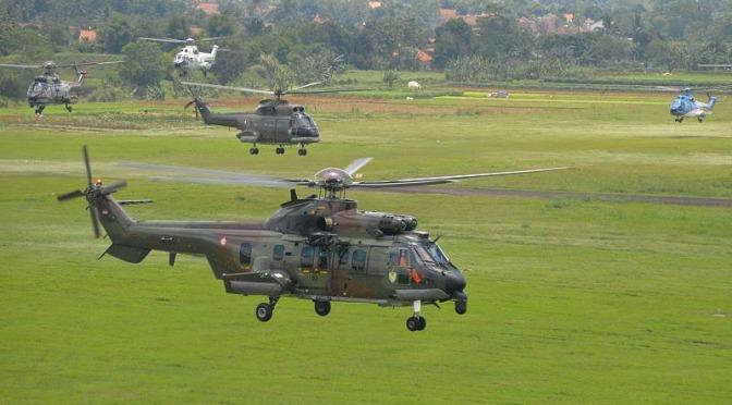Demo Udara HUT TNI AU ke- 71 Libatkan Helikopter Skadron Udara 6 dan 8 Lanud ATS