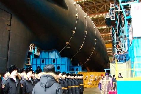 Kapal selam penyerang bertenaga nuklir, Kazan. (Ruptly)