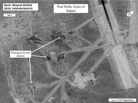 Komplek pangkalan udara yang masih utuh (Reuters)