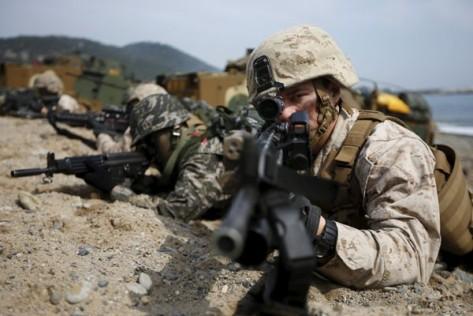 Prajurit Marinir Amerika Serikat (Reuters)