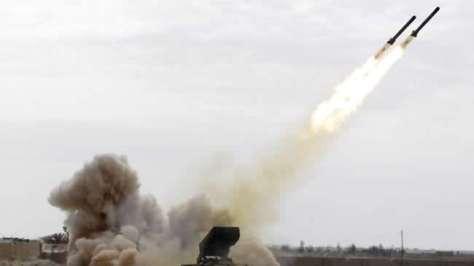 Roket ditembakkan dari Semenanjung Sinai, usai Israel menutup perbatasan kedua negara. (Thaier Al-Sudani)