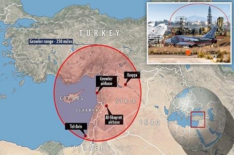S-400 yang dikerahkan Rusia di Suriah. (Daily Mail)