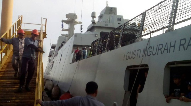 Sea Trial KRI I Gusti Ngurah Rai 332