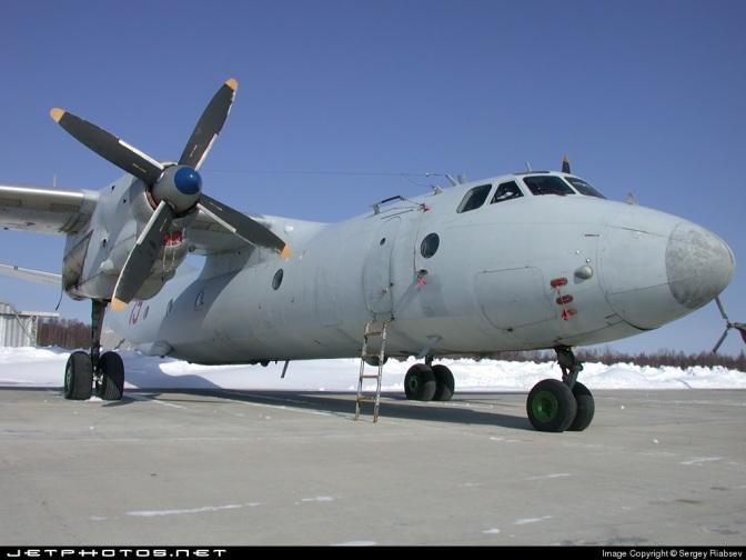 Antonov AN-26 Rusia Terbakar Saat 'Hard Landing'