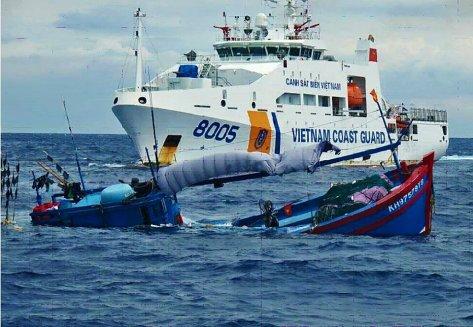 Coast Guard Vietnam dalam Insiden Natuna