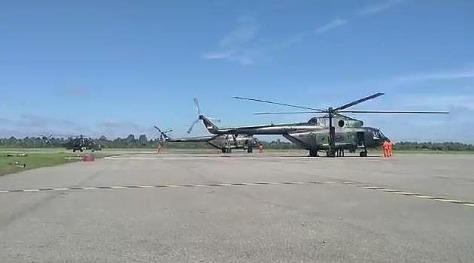 Helikopter TNI dalam misi latihan PPRC (Tribunnews)