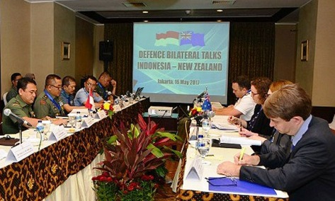 Pertemuan 'The Bilateral Defence Talks' Indonesia dan New Zealand