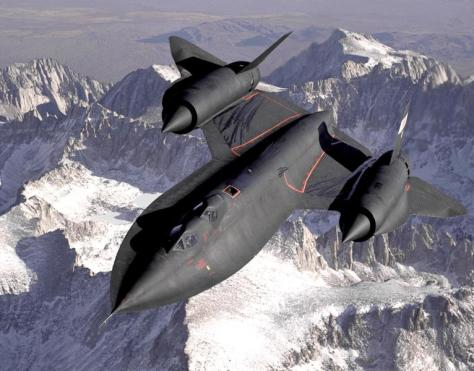 SR-71 Blackbird USAF (Angkasa)
