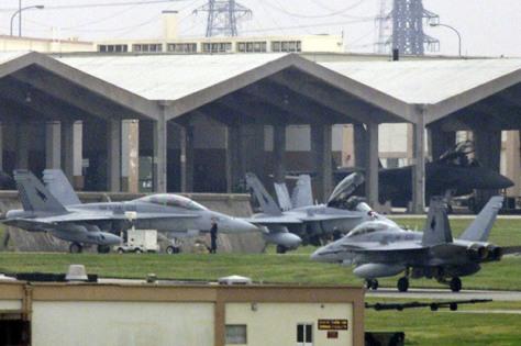 F-18 di Pangkalan Udara Jepang. (Istimewa)