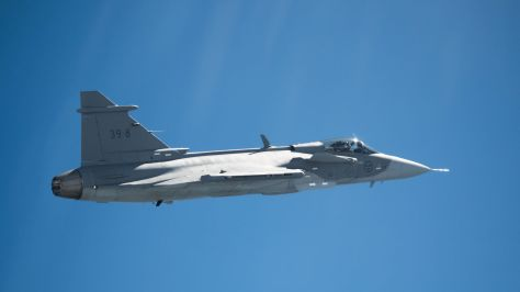Gripen E first flight (Saab) 1