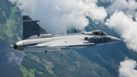 Gripen E first flight (Saab) 3