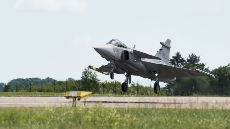 Gripen E first flight (Saab) 4