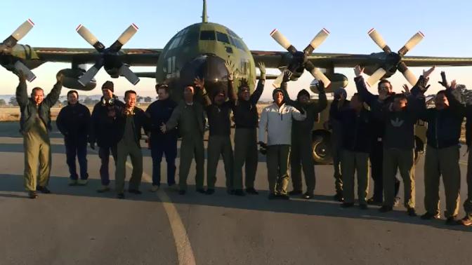 Pejabat Militer Indonesia Terbang dengan Hercules yang Dibeli dari Australia