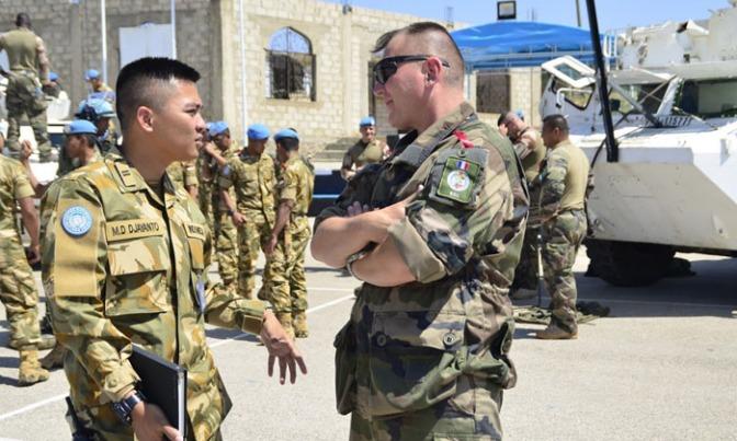 Indobatt Latihan Bersama Dengan Force Commander Reserve Perancis