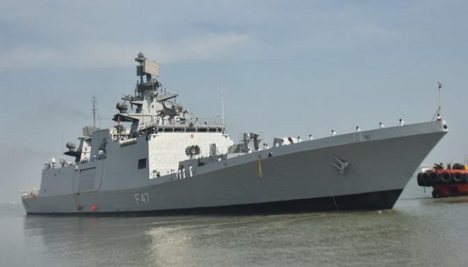 Mengintip Kapal Perang INS Shivalik Milik India