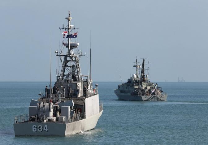 Dua Kapal Perang Jajaran Koarmatim Tiba di Darwin