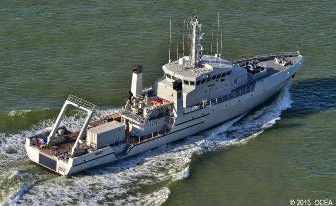 Inspeksi Pelaksanaan Survei Hidro-oseanografi di Perairan Bitung