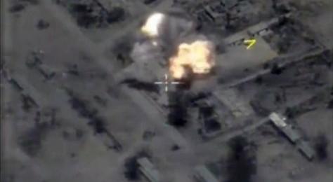 Misil diluncurkan ke target ISIS di dekat Palmyra (31052017). (Reuters)