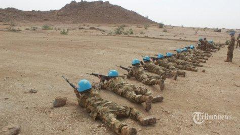 Pasukan Garuda yang tergabung dalam Satuan Tugas Batalyon Komposit (Satgas Yonkomposit) Konga XXXV-C Unamid (United Nations Mission In Darfur) atau Indobatt-03. (Puspen TNI Tribunnews) 1