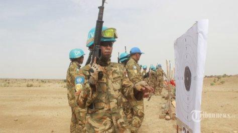 Pasukan Garuda yang tergabung dalam Satuan Tugas Batalyon Komposit (Satgas Yonkomposit) Konga XXXV-C Unamid (United Nations Mission In Darfur) atau Indobatt-03. (Puspen TNI Tribunnews) 2