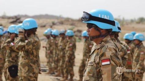 Pasukan Garuda yang tergabung dalam Satuan Tugas Batalyon Komposit (Satgas Yonkomposit) Konga XXXV-C Unamid (United Nations Mission In Darfur) atau Indobatt-03. (Puspen TNI Tribunnews) 3