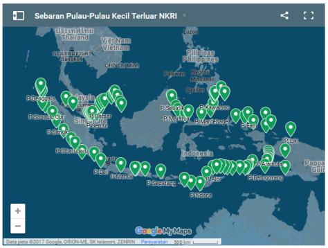 Peta Pulau Terluar NKRI (Google)