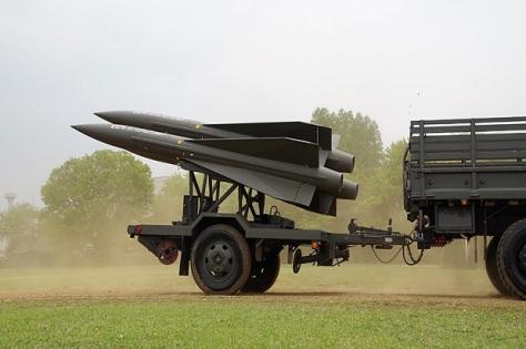 Sistem rudal MIM-23 Hawk buatan Raytheon, AS, milik Swedia yang sudah tua. (Wiki)