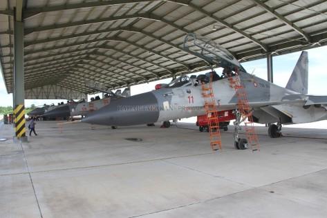 Sukhoi Su-30 TNI AU akan stand by selama satu bulan di Tarakan (16062017).