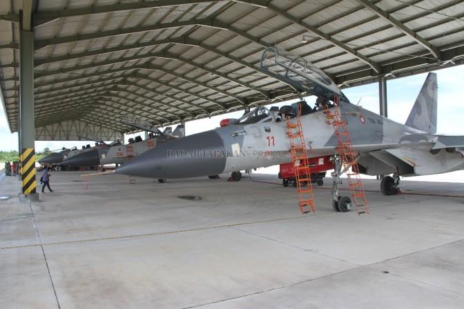 Tiga Unit Sukhoi TNI AU Siaga di Tarakan