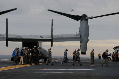 Talisman Saber 2017, Osprey di USS Bonhomme, Kamis 29 06. (Reuters) 1