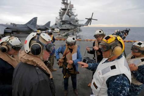 Talisman Saber 2017, Osprey di USS Bonhomme, Kamis 29 06. (Reuters) 2