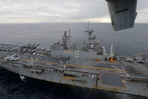 Talisman Saber 2017, Osprey di USS Bonhomme, Kamis 29 06. (Reuters) 3