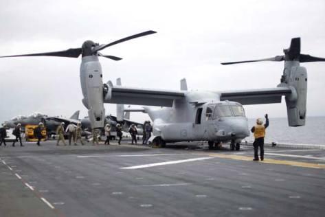 Talisman Saber 2017, Osprey di USS Bonhomme, Kamis 29 06. (Reuters) 4